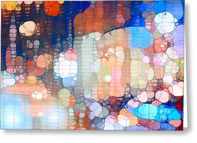City Lights Urban Abstract Greeting Card by Dan Sproul