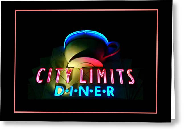 Menu Greeting Cards - City Limits Diner Greeting Card by Diana Angstadt