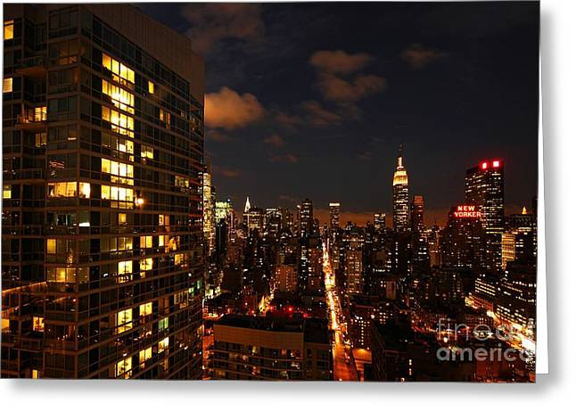 New Yorker Greeting Cards - City Living Greeting Card by Andrew Paranavitana