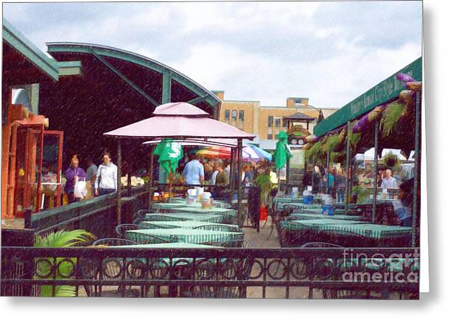 City Market Greeting Card by Liane Wright
