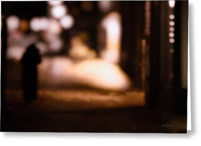 City Nights Greeting Card by Bob Orsillo