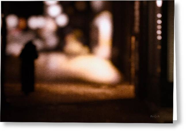 Sullen Greeting Cards - City Nights Greeting Card by Bob Orsillo
