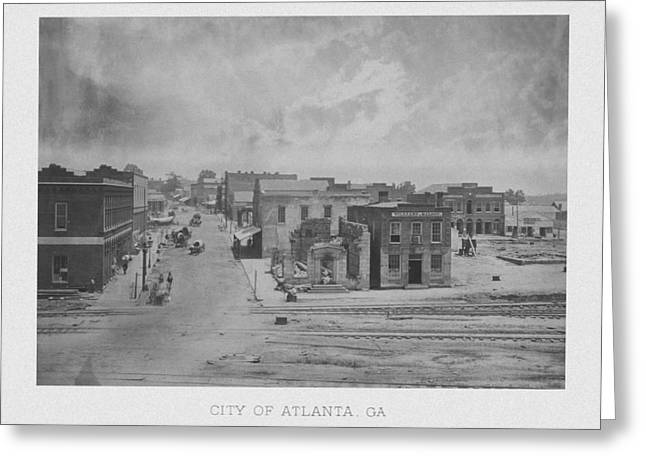 Wagon Mixed Media Greeting Cards - City Of Atlanta 1863 Greeting Card by War Is Hell Store