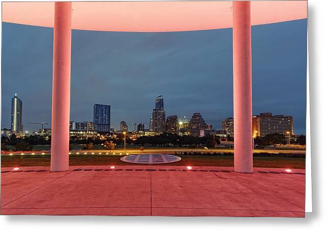 Jw Marriott Greeting Cards - City of Austin Framed Greeting Card by Silvio Ligutti
