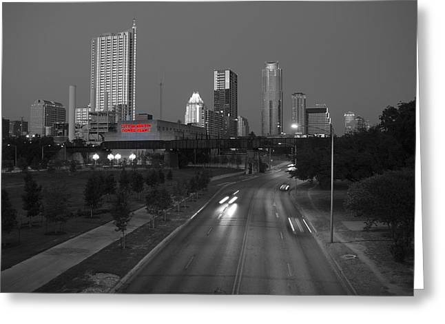 Power Plants Greeting Cards - City of Austin Power Plant Greeting Card by James Granberry
