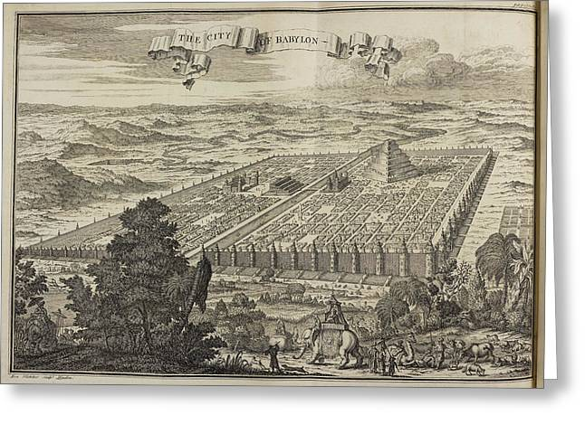 City Of Babylon And Surrounding Area Greeting Card by British Library