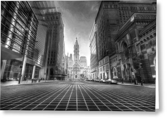 Philadelphia Digital Greeting Cards - City of Brotherly Love Greeting Card by Lori Deiter