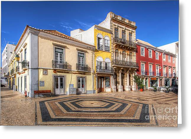 Praia De Faro Greeting Cards - City Of Faro Greeting Card by English Landscapes