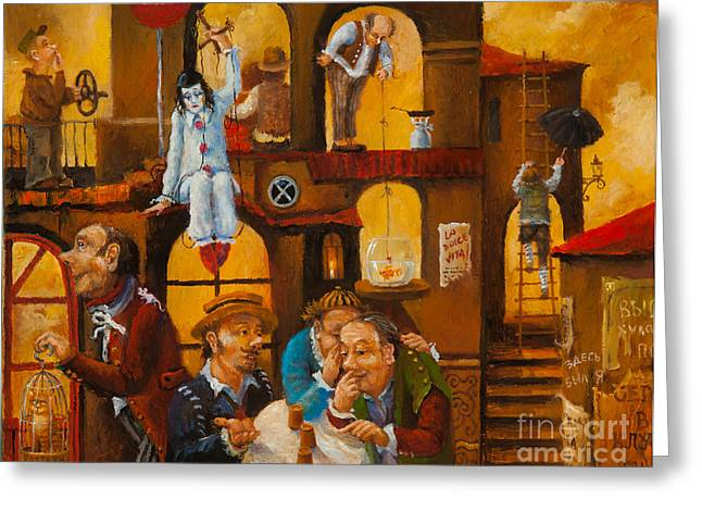Savant Paintings Greeting Cards - City of Fools Greeting Card by Igor Postash
