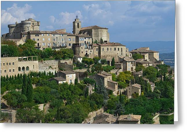 South Of France Greeting Cards - City of Gordes Greeting Card by Karma Boyer