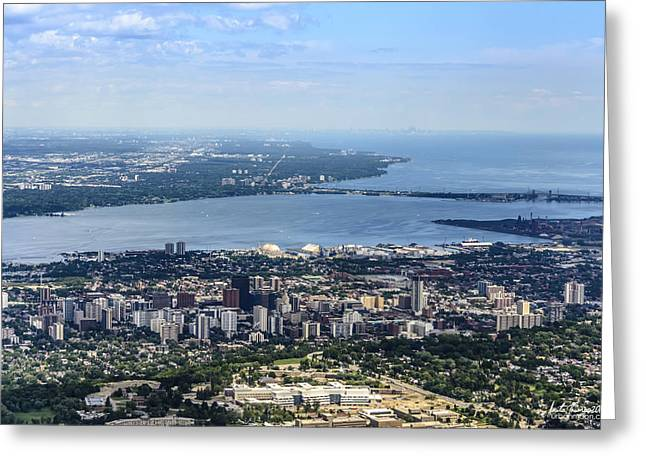 Brdige Greeting Cards - City of Hamilton Greeting Card by Urbanmoon Photography