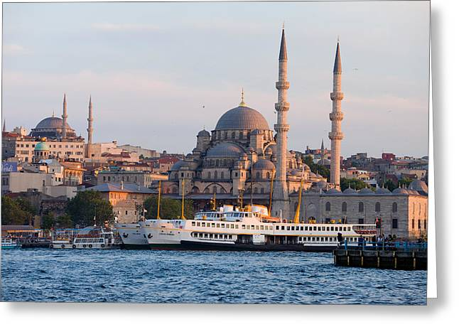 Stanbul Greeting Cards - City of Istanbul at Sunset Greeting Card by Artur Bogacki
