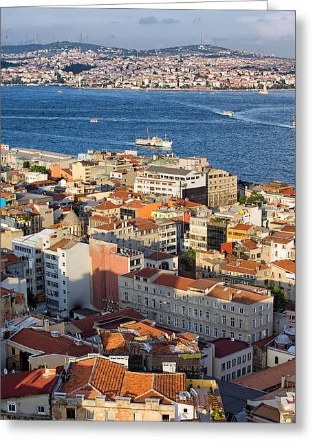 City Of Istanbul From Above Greeting Card by Artur Bogacki