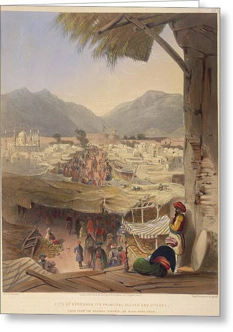 City Of Kandahar Greeting Card by British Library