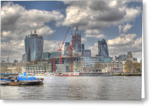 Mile 122 Greeting Cards - City of London as viewed from City Hall Greeting Card by Ash Sharesomephotos