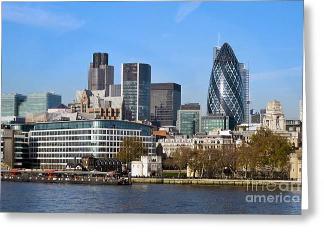 Londoners Greeting Cards - City of London Skyline Greeting Card by Bill Cobb