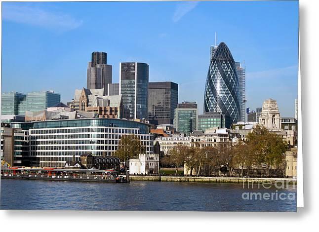 City Of London Skyline Greeting Card by Bill Cobb