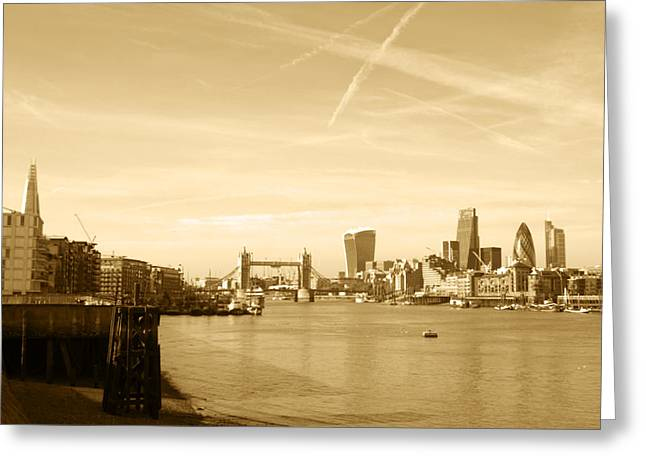 Rectangles Greeting Cards - City of London Skyline Greeting Card by Chris Day