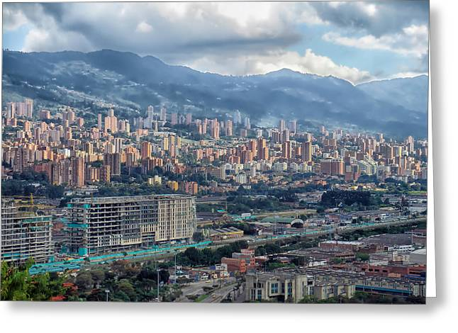 Best Sellers -  - Haze Greeting Cards - City of Medellin  Greeting Card by Mountain Dreams