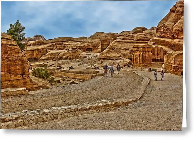 Petra Greeting Cards - City of Petra in Jordan Greeting Card by Vladimir Rayzman