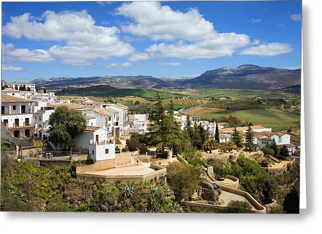 Pueblo Blanco Greeting Cards - City of Ronda in Spain Greeting Card by Artur Bogacki