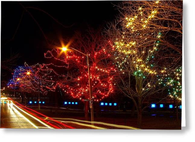 City Park Lights Greeting Card by Paul Wash