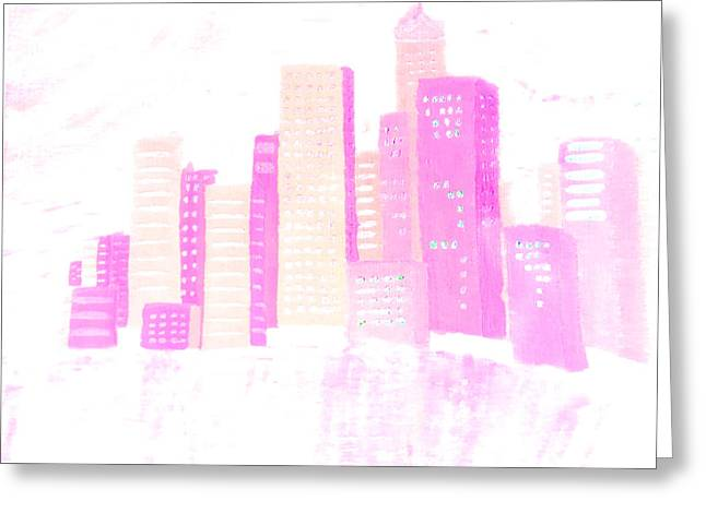 Top Selling Digital Art Greeting Cards - City Passion Greeting Card by Erica  Darknell