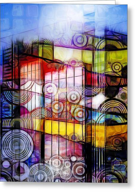 City Patterns 1 Greeting Card by Lutz Baar