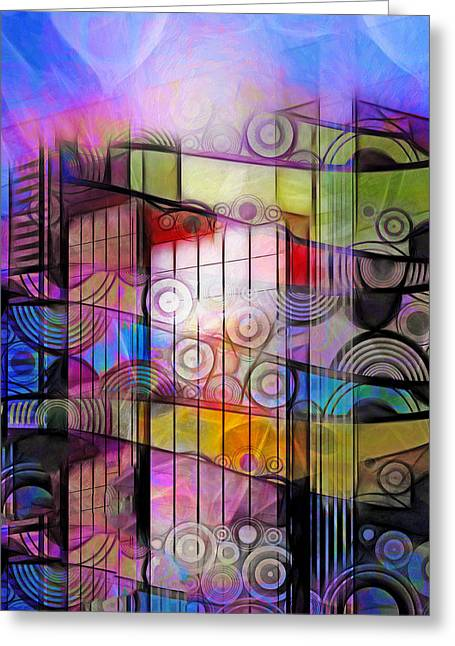 Lightscapes Greeting Cards - City Patterns 3 Greeting Card by Lutz Baar