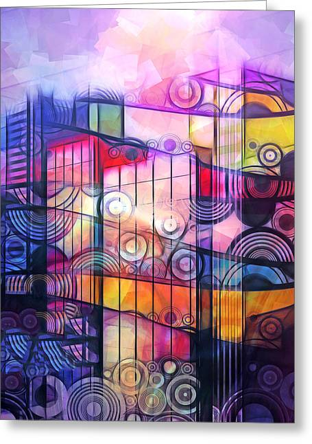 City Patterns 4 Greeting Card by Lutz Baar