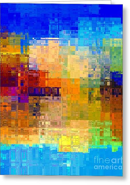 Deconstructed Greeting Cards - City Reflected Greeting Card by Dale   Ford