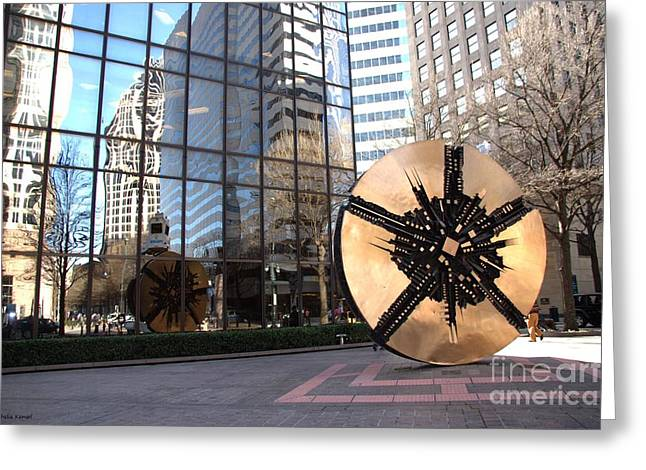 Charlotte Nc Photography Greeting Cards - City Reflections - Charlotte NC Greeting Card by Shelia Kempf