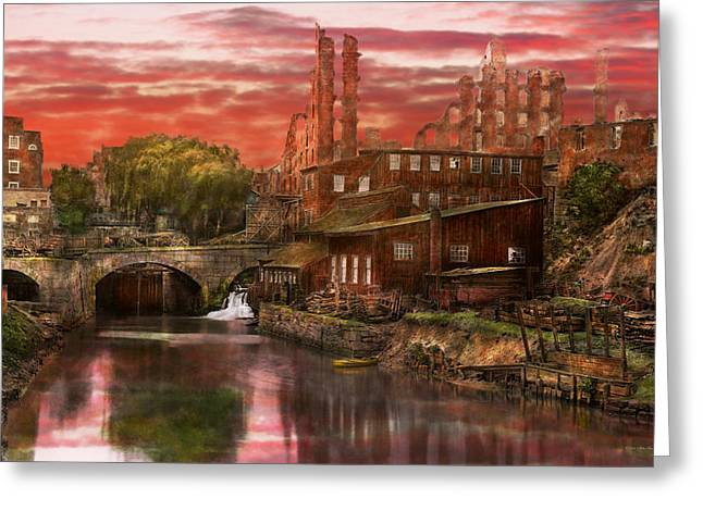 Colorization Greeting Cards - City - Richmond VA - After the fighting stopped - 1865 Greeting Card by Mike Savad