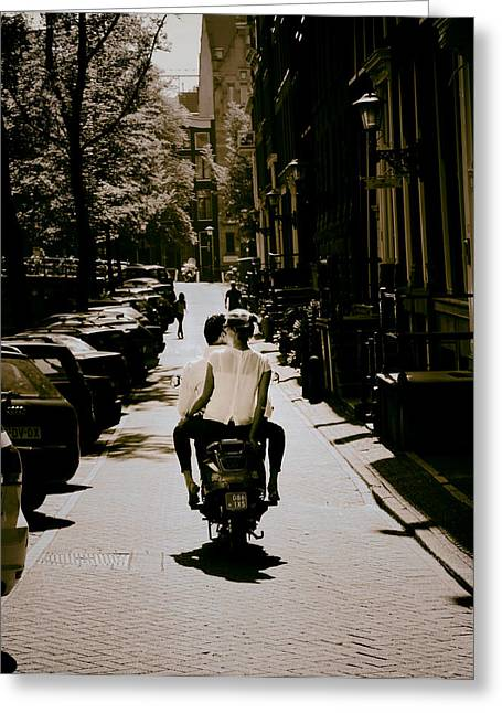 Life And Light Greeting Cards - City Scootin Greeting Card by Mountain Dreams