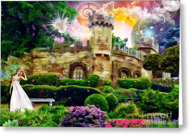 Kingdom Of Heaven Greeting Cards - City set on a hill Greeting Card by Dolores Develde