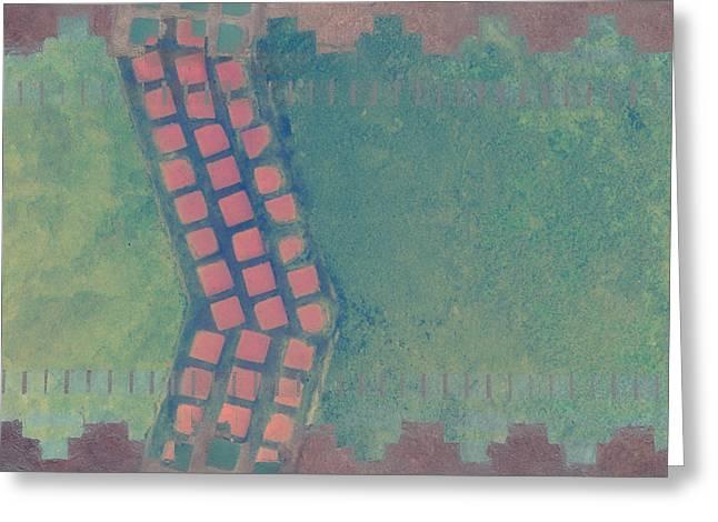 City Sidewalks Greeting Card by Carol Leigh