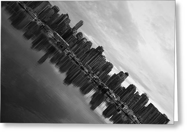 Ocean. Reflection Greeting Cards - City Slope  Greeting Card by Jerry Cordeiro
