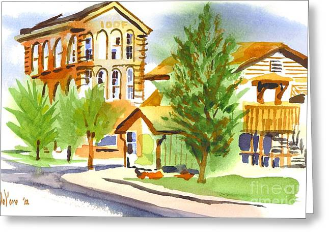 City Streets Greeting Card by Kip DeVore