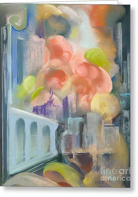 In-city Pastels Greeting Cards - City Sunrise Greeting Card by Paula Wild