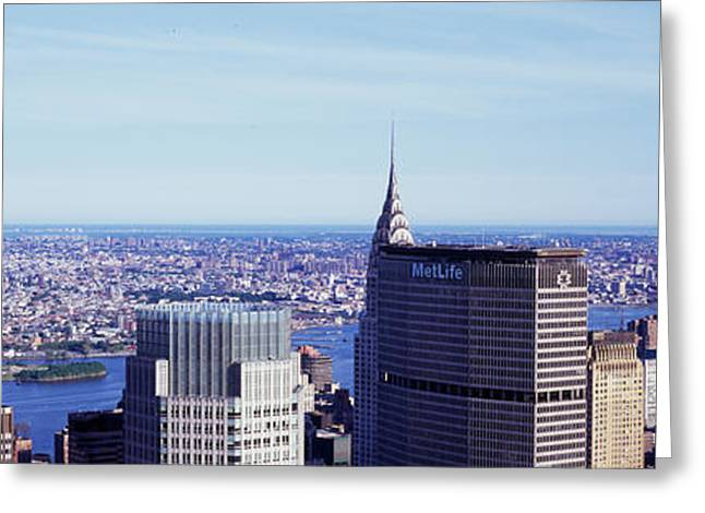 Top Of The Rock Greeting Cards - City View From Top Of The Rock Greeting Card by Panoramic Images