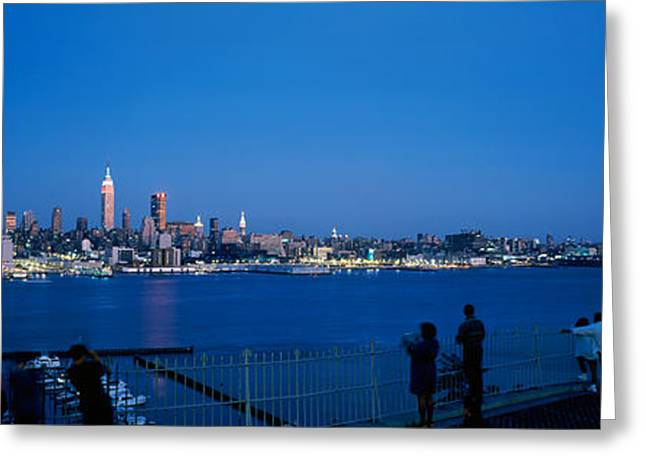 City Viewed From Hamilton Park, New Greeting Card by Panoramic Images