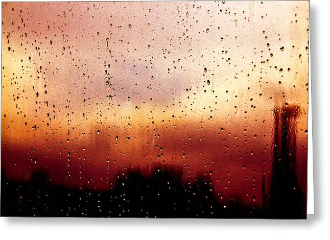 City Window Greeting Card by Bob Orsillo