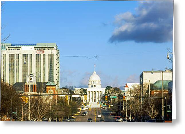 City With A Government Building Greeting Card by Panoramic Images