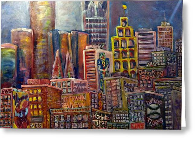 cityscape 9 Greeting Card by Don Thibodeaux