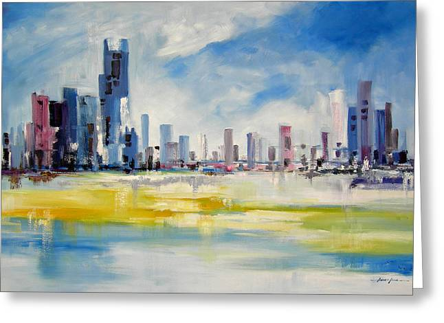 Ahmed Amir Greeting Cards - Cityscape Greeting Card by Ahmed Amir
