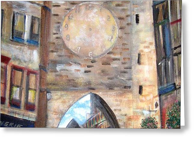 Cityscape European Greeting Card by Rick Todaro