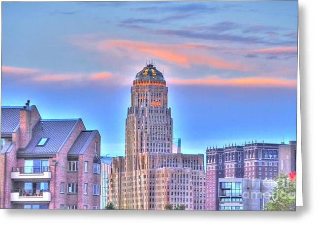 Struckle Greeting Cards - CityScape Greeting Card by Kathleen Struckle