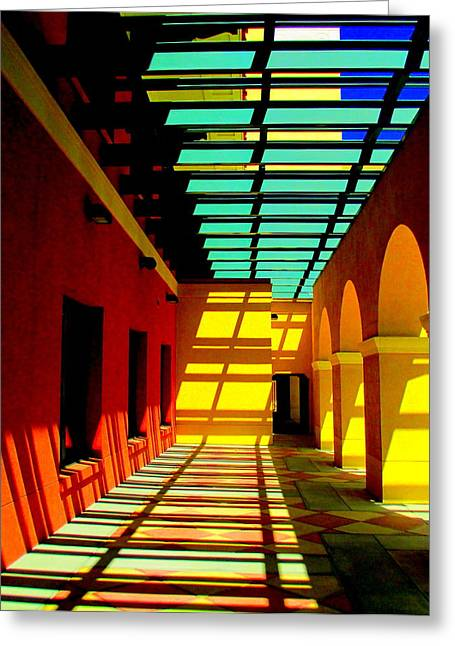 Trellis Greeting Cards - Civic Center Cathedral City Greeting Card by Randall Weidner