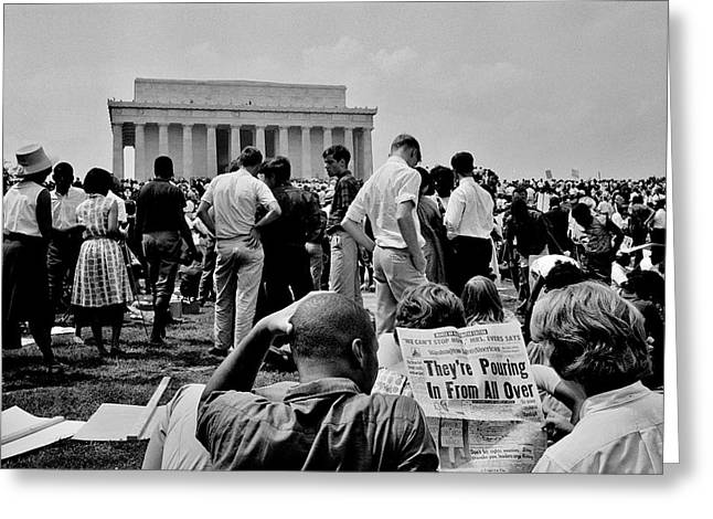 Civil Rights Occupiers Greeting Card by Benjamin Yeager