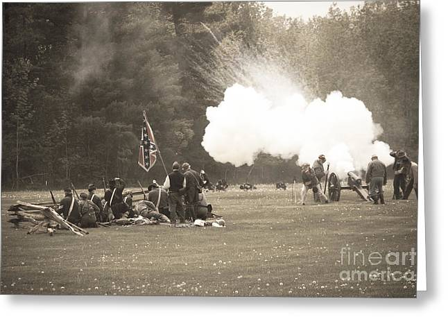 Confederate Flag Greeting Cards - Civil War 11 Greeting Card by Roger Bailey